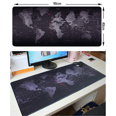 Large World Map Non-Slip Gaming Mouse Pad Keyboard Mat Office Mousepad 4 Sizes L