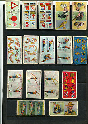 Cigarette Cards Vintage Ogden's Boy Scouts X 16 Cards Lot 113