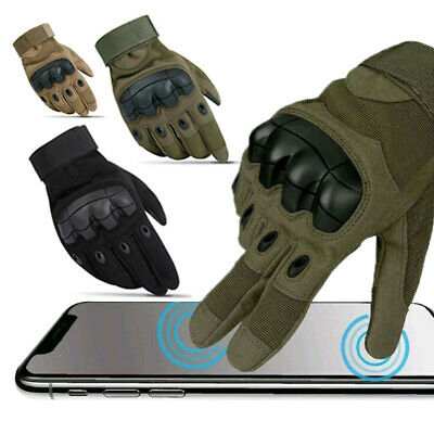 Men's Tactical Hard Knuckle Gloves Special Ops Combat Assault Patrol Army SWAT
