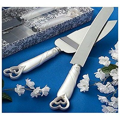 ORIGINAL cake serving set with silver head, stainless steel wedding cake server