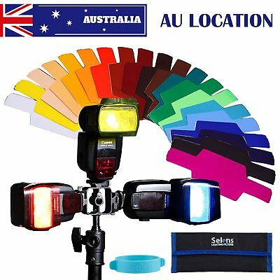 AU 20 Colors Photographic Gels Filter for Canon Nikon Yongnuo Flash Speedlite