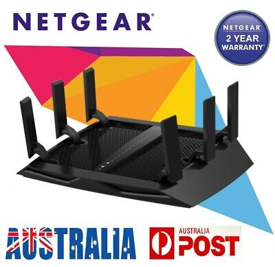 New Nighthawk Netgear R8000 Nighthawk AC3200 X6 Tri-Band Wi-Fi Pro Gaming Router