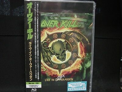 OVERKILL Live In Overhausen JAPAN BLU-RAY + 2CD The Bronx Casket Co. Lubricunts