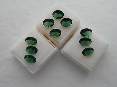 green hydro thermal quartz oval stones small parcel of 10