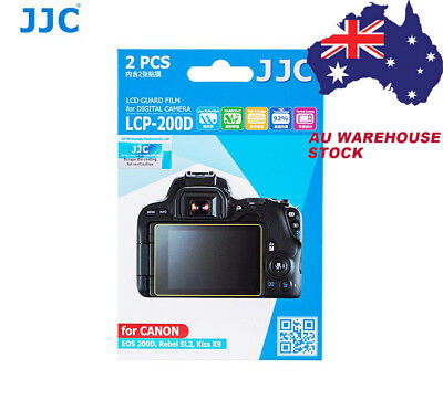 JJC LCP-200D LCD Screen Protector Guard Film f/ CANON EOS 200D Rebel SL2 Kiss X9