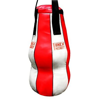Heavy Filled Maize Punch bag Boxing Bag Twist Angle Muay Thai Kick MMA Red/BLK