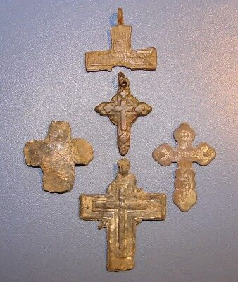 Ancient BRONZE сross, fragments of crosses. Middle Ages. Оriginal