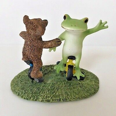 Copeau Frog Bear Riding Unicycle Figure Animal Japan Toy Kawaii F/S Tracking
