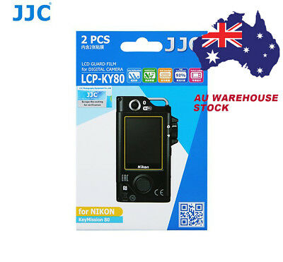 JJC LCP-KY80 LCD Screen Protector Protection Guard Film for Nikon KeyMission 80