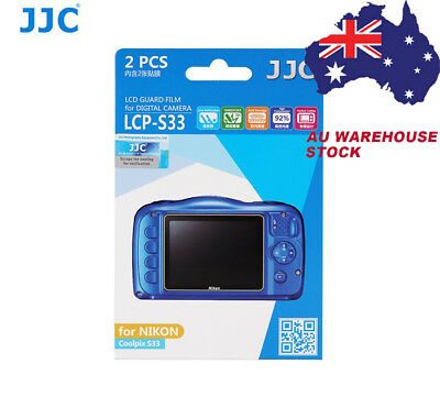 JJC LCP-S33 LCD Screen Protector Protection Guard Film for NIKON Coolpix S33