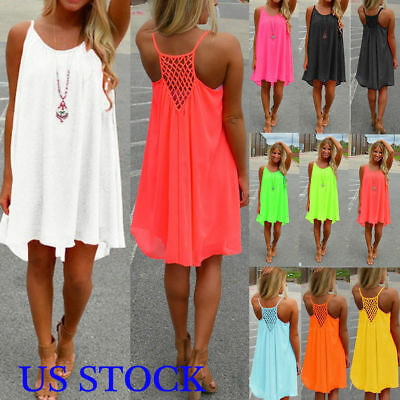 US Womens Bikini Cover Up Kaftan Beachwear Beach Short Dress Ladies Mini Dress