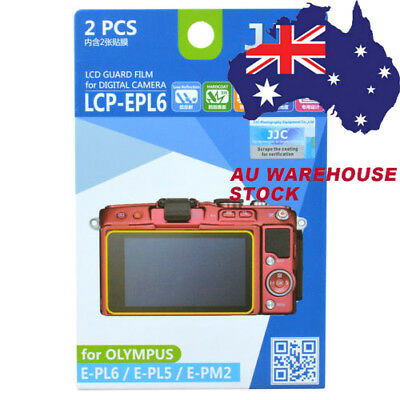 JJC LCP-EPL6 LCD Guard Film Camera Screen Display Protector for Olympus E-PL6 5