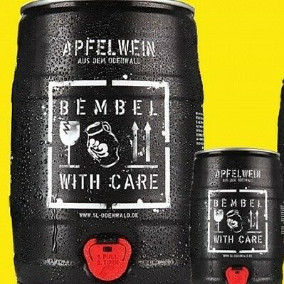 """Apfelwein """"BEMBEL WITH CARE"""" , 4 x 5 Liter Party Fass"""