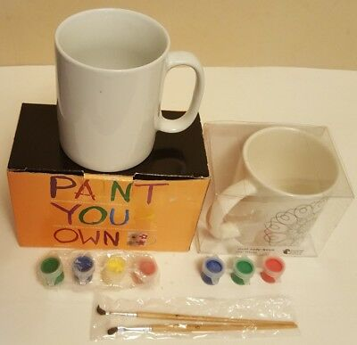 2 x PAINT YOUR OWN MUGS ~ BOXED