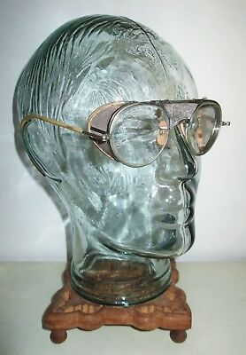 Antique Bausch & Lomb Safety Glasses Goggles Vtg Ray Ban Steampunk B&L Retro