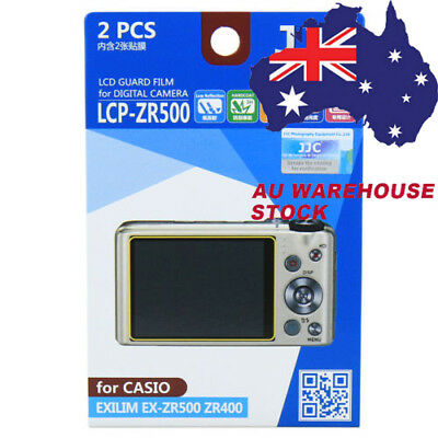 JJC LCP-ZR500 LCD Film Camera Screen Display Protector for CASIO EXILIM EX-ZR500