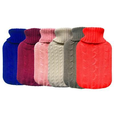 2000ml Knitted Hot Water Bottle Cover Case Heat Warm Keeping Coldproof AU #