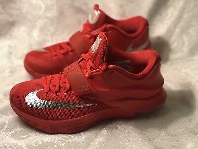 detailed look 05229 9eacb ... discount size 9 mens nike kd vii global game 653996 660 action red  metallic silver 75635