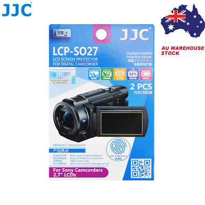 "JJC LCP-SO27 Film Screen Display Protector for SONY 2.7"" LCD Camcorders x2"