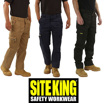 Mens Original Cargo Combat Work Trousers By SITE KING Size 28 to 52 - 002