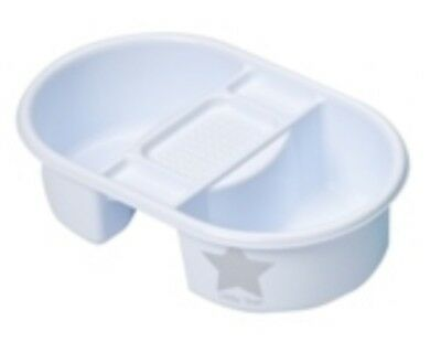 Deluxe Newborn Unisex White Baby Top & Tail Water Bowl Face Body Bathing Star