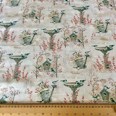 WINTER GARDEN - VIGNETTES Fabric by Quilting Treasures Christmas Festive Cotton