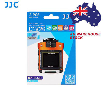 JJC LCP-WGM2 LCD Screen Protector Protection Guard Film for Ricoh WG-M2  camera
