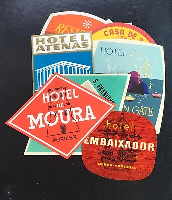 16 European Hotel Labels - Vintage - Original + Bonus Labels