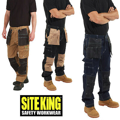 SITE KING Premium Contrast Holster Pocket Combat Cargo Work Trousers - 012