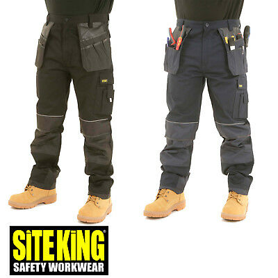 SITE KING Heavy Duty Cargo Holster Pocket Work Trousers with Knee Pad Pocket 008