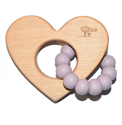 Nature Bubz Love Heart Baby Teether- Assorted Colours
