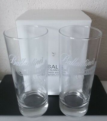 Ballantimes LEAVE IMPRESSION  WHISKY 6 Verres tubes 33 cl NEUF No Ricard