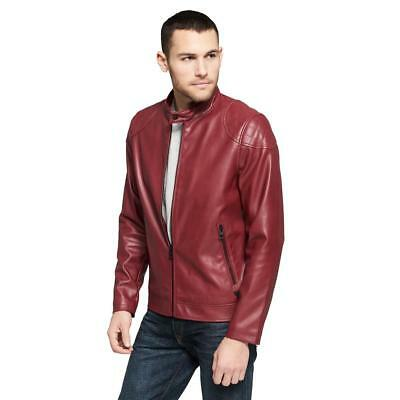 Wilsons Leather Mens Web Buster Fauxleather Moto W/ Quilting