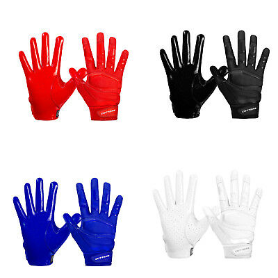 Cutters S452 REV PRO 3.0 Football Receiver Gloves Solid Color (PAIR)