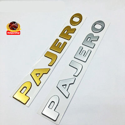 3D-Pajero-Letter-Logo-ABS-Emblem-Badge-Stickers-Car-Body-Side-Mitsubishi-Pajero