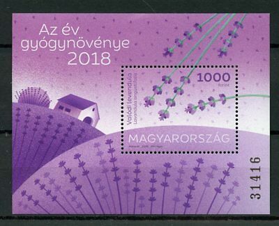 Hungary 2018 MNH True Lavender Medicinal Plant of Year 1v M/S Plants Stamps