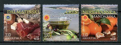 Croatia 2018 MNH Protected Agricultural & Food Products 3v Set Gastronomy Stamps