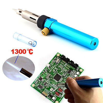 3in1Gas Blow Torch Soldering Solder Iron Gun Butane Cordless Welding PenBur Ew