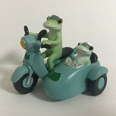 Copeau Frog Driving Motor Cycle Combination Mini Figure Japan Toy F/S Tracking