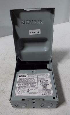 Siemens 60A Enclosed Pullout Switch Wn2060 Nnb