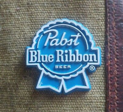 Vintage classic Pabst Blue Ribbon Beer fridge rubber magnet