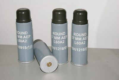 RUBBER BULLET army police PSNI 37mm L60A2 AEP Baton Round + cartridge case