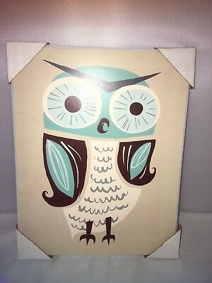 owl wall wood decor frame for baby room