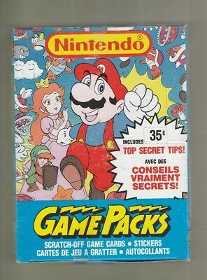 1989 P-Pee-Chee OPC Nintendo Game Packs Series 1 Box 48 Packs Tough! Tape Seal
