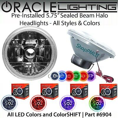 "ORACLE Pre-Installed 5.75"" Sealed Beam LED Halo Headlights - All Colors - #6904"