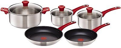 Tefal Jamie Oliver Mainstream Stainless Steel Induction 5 Piece Set