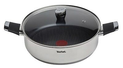 Tefal Emotion 28cm Induction Stainless Steel Non Stick Shallow Pan with Lid