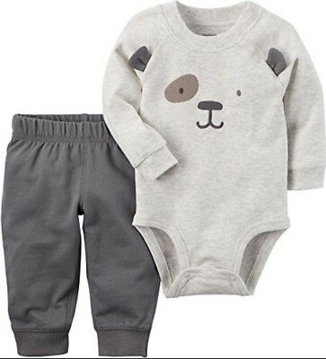 186738e34 NWT CARTER'S 3 Piece Baby Boy Outfit 6 Months Bears Bodysuit Pants ...