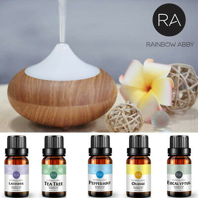 Essential Oils 100% Pure Set 5 x 10mL Bottles HOT 5 OILS Aromatherapy Diffusers