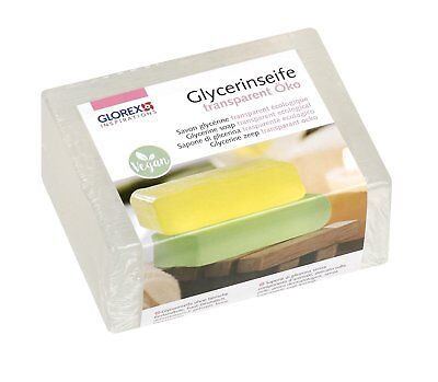 500 g Glorex Seife Glycerinseife transparent öko vegan